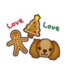 ラブとすてきなクリスマス(キャバリア)(個別スタンプ:8)