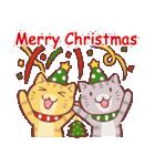 クリスマス色の猫たち(個別スタンプ:12)