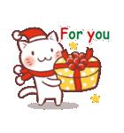 クリスマス色の猫たち(個別スタンプ:16)