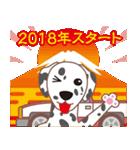 NEW YEAR 2018〜ダルメシアンと車(個別スタンプ:01)