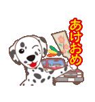 NEW YEAR 2018〜ダルメシアンと車(個別スタンプ:03)