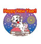 NEW YEAR 2018〜ダルメシアンと車(個別スタンプ:06)