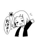 無難に白黒ガール(個別スタンプ:02)