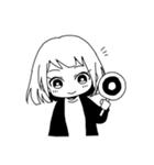 無難に白黒ガール(個別スタンプ:15)