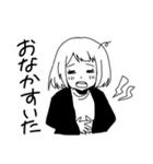 無難に白黒ガール(個別スタンプ:38)