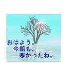 white christmas & happy new year.(個別スタンプ:1)