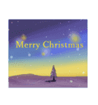white christmas & happy new year.(個別スタンプ:24)