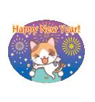 NEW YEAR 2018〜三毛猫とオート三輪(個別スタンプ:03)
