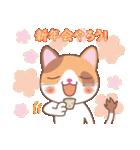 NEW YEAR 2018〜三毛猫とオート三輪(個別スタンプ:08)