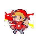動く!イニシャル「K」/100%広島女子(個別スタンプ:11)