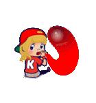 動く!イニシャル「K」/100%広島女子(個別スタンプ:24)