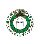 クリスマスバージョンのメジェド(個別スタンプ:24)