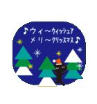 北欧モダン♥黒猫スタンプクリスマス&正月(個別スタンプ:01)