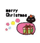 北欧モダン♥黒猫スタンプクリスマス&正月(個別スタンプ:10)