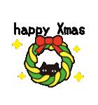 北欧モダン♥黒猫スタンプクリスマス&正月(個別スタンプ:15)