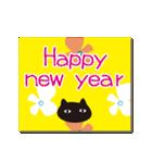 北欧モダン♥黒猫スタンプクリスマス&正月(個別スタンプ:38)