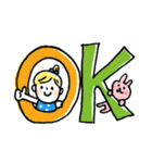 ❤️カタカナ韓国語&日本語会話スタンプ❤️(個別スタンプ:18)