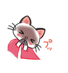 シャム猫ちゃん! クリスマスバージョン♪(個別スタンプ:37)