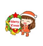 Christmas Cute Girl(個別スタンプ:1)