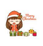 Christmas Cute Girl(個別スタンプ:2)