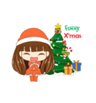 Christmas Cute Girl(個別スタンプ:4)