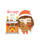 Christmas Cute Girl(個別スタンプ:5)