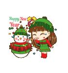 Christmas Cute Girl(個別スタンプ:21)