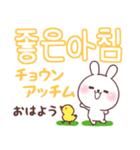 ❤️すきすぎるうさぎ❤️韓国語(個別スタンプ:5)