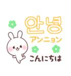 ❤️すきすぎるうさぎ❤️韓国語(個別スタンプ:17)