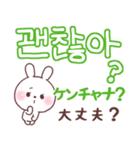 ❤️すきすぎるうさぎ❤️韓国語(個別スタンプ:19)
