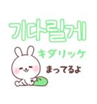 ❤️すきすぎるうさぎ❤️韓国語(個別スタンプ:35)