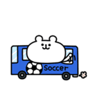 ゆるくま 番外編1 サッカー(個別スタンプ:40)