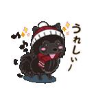 気軽にスタンプ 黒ポメラニアン 冬編(個別スタンプ:08)