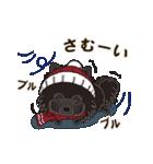 気軽にスタンプ 黒ポメラニアン 冬編(個別スタンプ:13)
