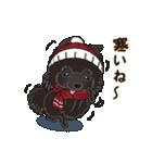 気軽にスタンプ 黒ポメラニアン 冬編(個別スタンプ:14)