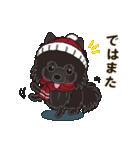 気軽にスタンプ 黒ポメラニアン 冬編(個別スタンプ:15)