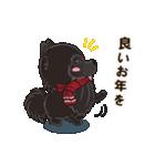 気軽にスタンプ 黒ポメラニアン 冬編(個別スタンプ:23)