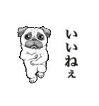 動く!哀愁パグ 3(個別スタンプ:02)