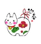 本格 筆文字 年賀状 2018 正月(あけおめ)(個別スタンプ:05)