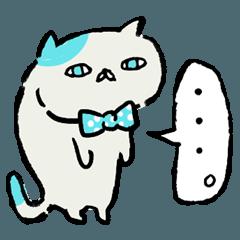 ポップな色の使いやすい猫スタンプ