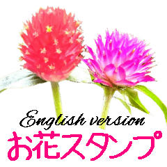 kikimama Flower Sticker英語版