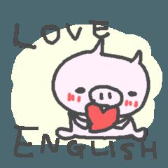 <英語>こぶたさんpop cute pig
