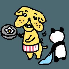 ブルちゃんとパンダ