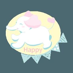 Happy Elephant Aula Illustration