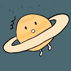 惑星ちゃんと宇宙のなかまたちスタンプ
