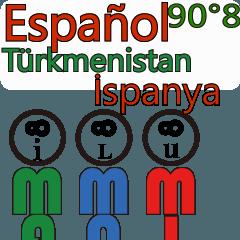 90°8 .スペイン語...トルクメニスタン