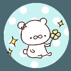 [LINEスタンプ] もっちりクマ 1 (1)