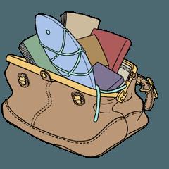 鞄図書館スタンプ