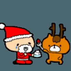 サンタクロースとトナカイくん