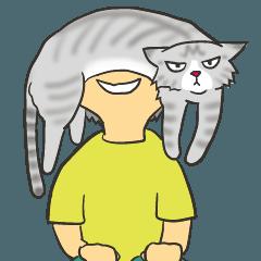 竜のスタンプwith猫
